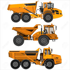 100 Articulating Dump Truck Powerful Articulated Isolated On A White Background