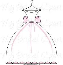 Cartoon clipart wedding dress 4