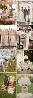 Country Rustic Wedding Ideas Burlap Lace Theme