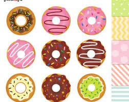 OFF SALE Donuts Clipart Donuts Digital Clip Art Sweet Doughnut Donut