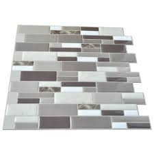 Bathroom Wall Tile Material by Peel N Stick Tile Backsplash Bathroom Wall Tiles 6 Sheet Covers