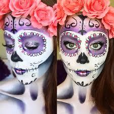 Halloween Half Mask Makeup by Classic Sugar Skull Makeup Tutorial Halloween 2014 Youtube