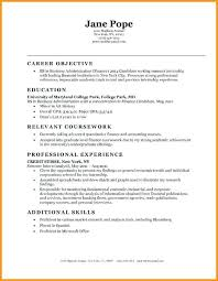 Resume Samples For Highschool Students With No Work Experience Example Objectives Entry Level Objective Examples Accurate