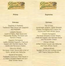 Olive Garden Drink Menu