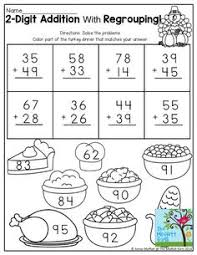 Regrouping Addition Math Printables Color By The Code Puzzles