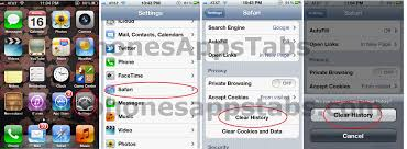 How to delete safari browsing history in iPhone and iPad