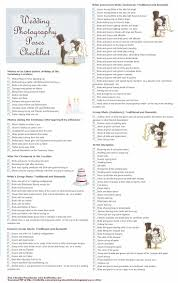 Printable Wedding Photography Poses Checklist