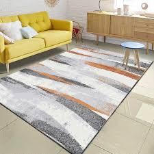 nordic minimalistischen grau orange muster bereich teppich
