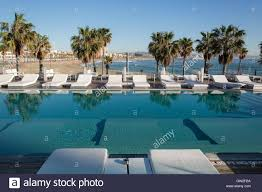 100 W Hotel Barcelona The Pool At The Hotel Spain Stock Photo