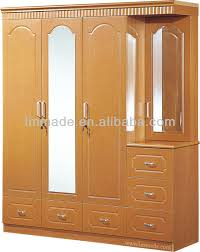 4 Doors Mirrored Pvc Wardrobe Dressing Table Designs Buy