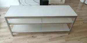 ikea gettorp tv bank in schwarz 120x40cm tv tisch