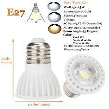 dimmable led spotlight bulb e27 e26 mr16 gu10 15w cob l 12v