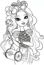 Briar Beauty Ever After High Coloring Sheet