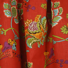 Jacobean Style Floral Curtains by Leopold Persimmon Jacobean Floral Fabric Jacobean Drapery