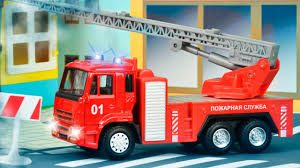 100 Red Fire Trucks The Truck With The Police Car Emergency Cars Cartoon For Kids