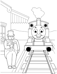 Download Coloring Pages Thomas Train Free Printable