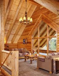 awesome brighten up a log cabin  Real Log Style by