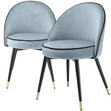 casa padrino luxus esszimmerstuhl set blau schwarz messing 55 x 64 x h 83 cm esszimmerstühle mit edlem samtstoff esszimmer möbel