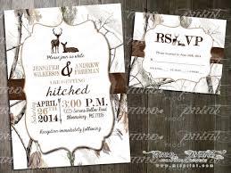 White Camo Deer Wedding Invitation and RSVP Card by MrsPrint $17 00