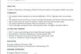 Emt Resume Objective Sample Paramedic Resumes Design Examples Instructor