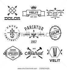 Vintage Labels With Anchor Crown Arrow Hammer