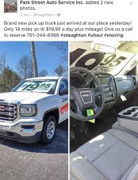 100 Rent A Pickup Truck For A Day Dam Barrows On Twitter Park Street Uto And UHaul Has Their New