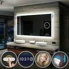 schalter uhr madrid badspiegel mit led beleuchtung