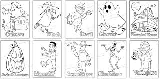You Get TEN Halloween Coloring Pages
