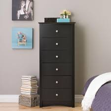 prepac sonoma 6 drawer black chest bdc 2354 k the home depot