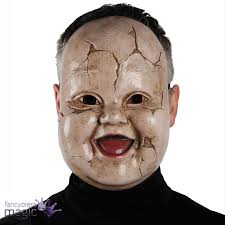 Purge Mask Halloween by Scary Doll Face Ghost Horror Mask Halloween Fancy Dress