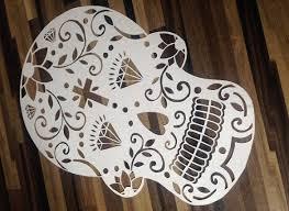 Skull Paper Cutting Template Design