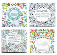 4 Design 24 Pages Inky Coloring Drawing Books Secret Garden Enchanted Forest Fantasy Dream Children Adult Graffiti Painting Book Dhl