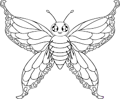 Download Coloring Pages Butterflies Free Printable Butterfly For Kids