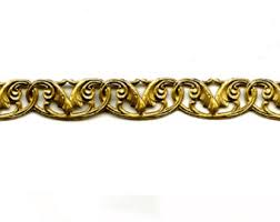 Decorative Metal Banding For Furniture by 6 Brass Banding Fancy Acanthus Flourish Metal Strip