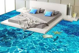 3D Epoxy Floor Design Bedroom AIC