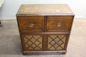 Antique Stromberg Carlson Radio Record Player In Cabinet