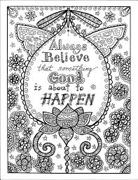 Always Believe That Something Good Is About To Happen Instant Download Be Brave Coloring Book