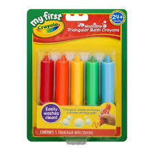 my first crayola washable triangular bath crayons 24 m 5 ct