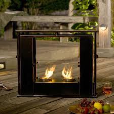 Decorating Portable Indoor Outdoor Gel Fuel Fireplace In Sleek