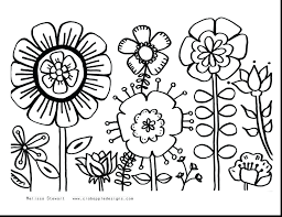 Coloring Pages Flowers In A Vase Unbelievable Summer Flower Printable Online Games Free Halloween Cats