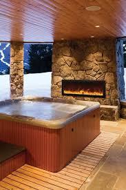 Amantii Panorama BI 40 SLIM OD Built in Outdoor Electric Fireplace