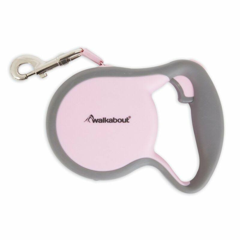 Petmate 02406 Walkabout Retractable Leash Pink - Small