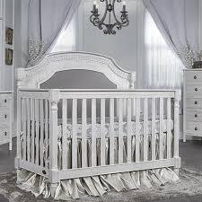 Bertini Tinsley 3 in 1 Upholstered Crib Antique White Babies
