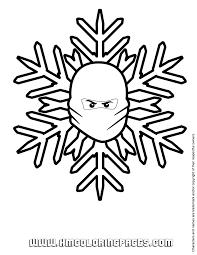 Lego Ninjago Christmas Snowflake Coloring Page