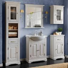landhaus badezimmermöbel spiegel 70 cm massivholz rahmen ablage liria 56 massivholz kiefer weiß b x h x t ca 70 x 80 x 8cm