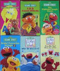 8 ELMO Sesame Street Elmo s World VHS Videos
