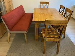 esszimmertisch mit 4 stühlen massivholz