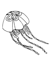 Jellyfish Star Coloring Page