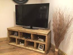 Wood Tv Stand Handmade Solid Reclaimed Wooden Unit Can Make Any Size Email Diy