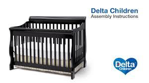 Bratt Decor Venetian Crib Daybed Kit by Delta Children Canton 4 In 1 Version B Crib Assembly Video Youtube